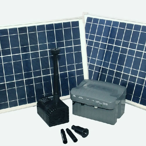 Solar Fountain Pump with Battery Backup