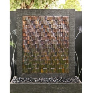 Copper Wall – 3D Antique Squares